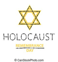 Vector holocaust remembrance day. January 27.
