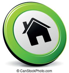 Vector home 3d icon