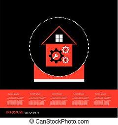 home repair gear cog symbol