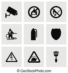 Vector home security icons set