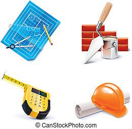 vector homebuildingrenovating 3 set of homebuilding and