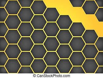 Vector honeycomb background