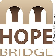 vector hope bridge abstract icon