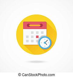 vector, horario, icono