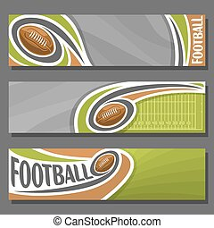 Vector horizontal Banners for American Football