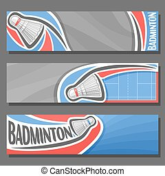 Vector horizontal Banners for Badminton