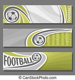 Vector horizontal Banners for Football