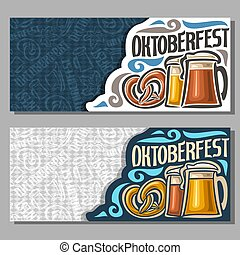 Vector horizontal banners for Oktoberfest