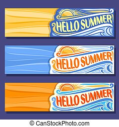 Vector horizontal banners for Summer