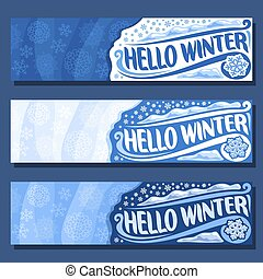 Vector horizontal banners for Winter