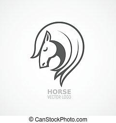 Vector horse head logo