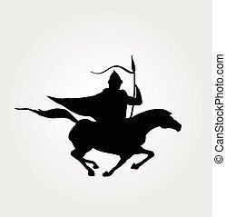 Vector horse rider illustration