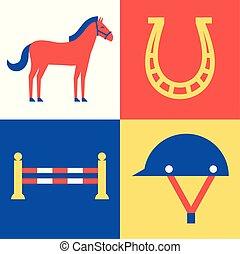 Vector horse set