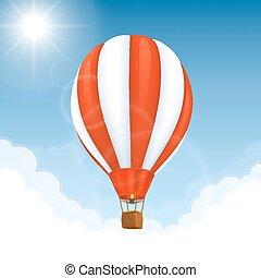 Vector Hot air balloon