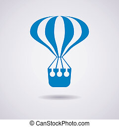 vector hot air balloon icon