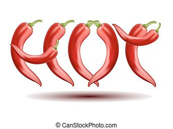 Vector hot Chili Pepper