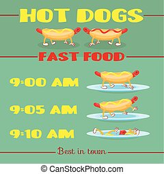 Vector hot dog banner
