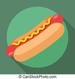Vector hot dog icon