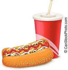 Vector hot dog illustration