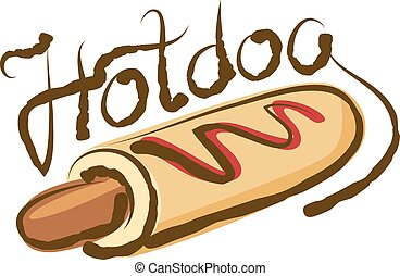 Vector Hot Dog