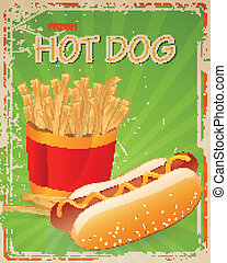 Vector Hot Dog Sign