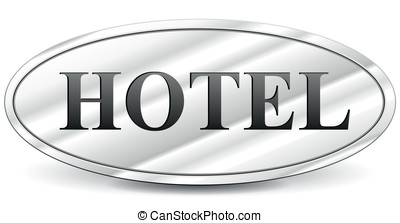 Hotel Sign Vector Illustration Vintage Old Clipart
