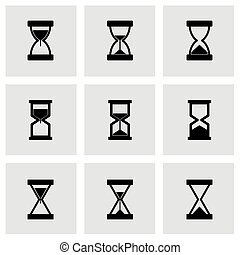 Vector hourglass icon set