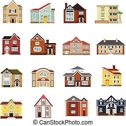 Vector house flat icon set