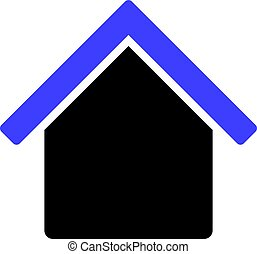 Vector House Flat Icon Symbol