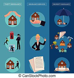 Vector house insurance infographic poster