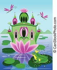 Vector house of frog princess