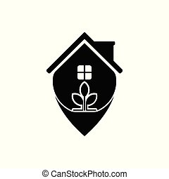 Vector House Tea Pointer Logo template design and support icon modern.