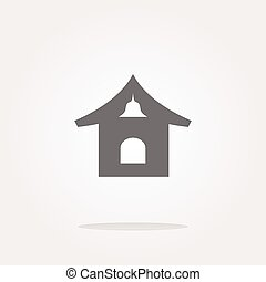 vector house web icon button. Web Icon Art. Graphic Icon Drawing