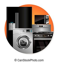 Vector household appliances