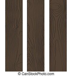 vector, hout, gekleurde, textuur, raad