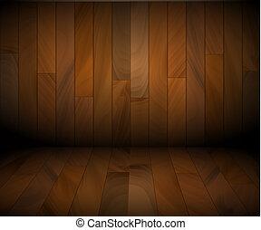 vector, houten, achtergrond