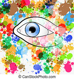 Vector Human Eye Illustration