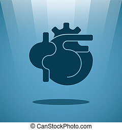 Vector human heart concept