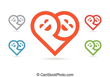Vector Human Heart Smiley Face Toge