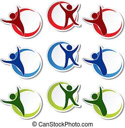 Vector human stickers