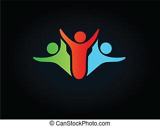 Vector human symbol - logo, icon