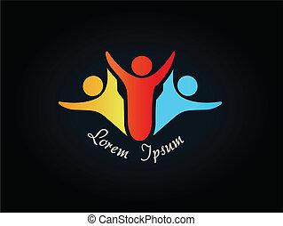 human symbol - logo, icon