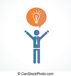 Vector human symbol silhouettes. Idea concept - Vector human...