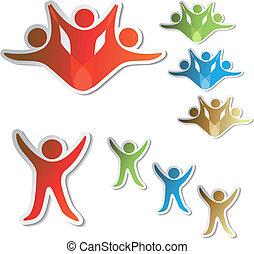 Vector human symbols