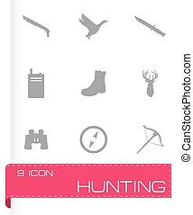 Vector hunting icons set