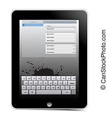 vector i-pad - Generic touch screen i pad, sleek black...