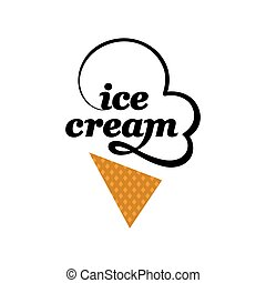Vector Ice cream logo