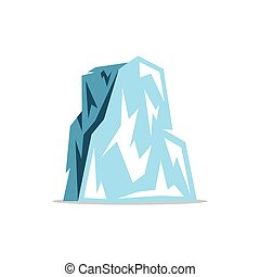 Vector Iceberg Cartoon Illustration.