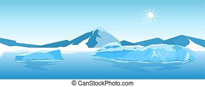 Vector Iceberg landscape