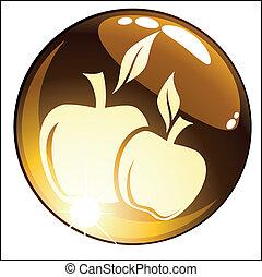 vector icon apple
